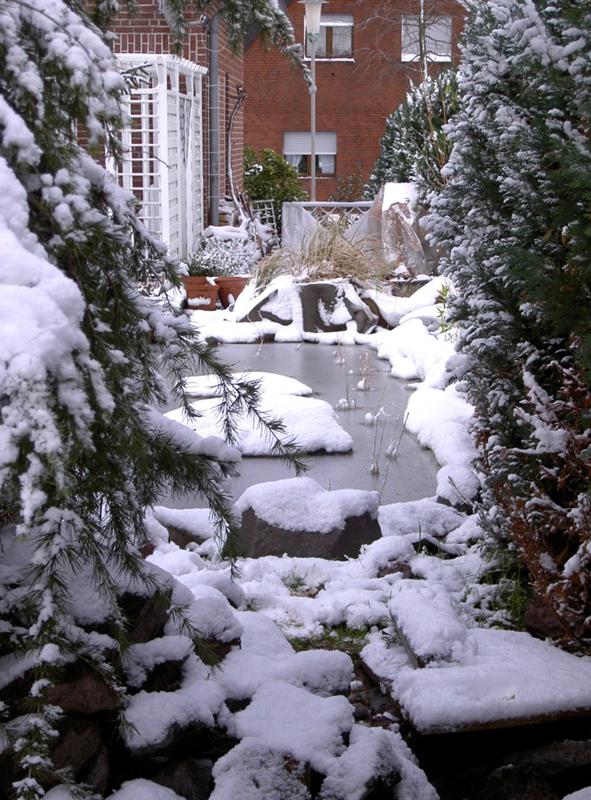 Gartenteich winter bel ften garten design ideen um ihr for Gartenteich im winter