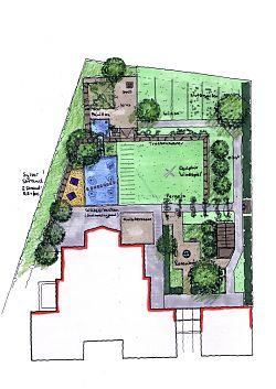Gel nde bevor der gro e moderne garten angelegt wurde for Gartengestaltung 700 qm