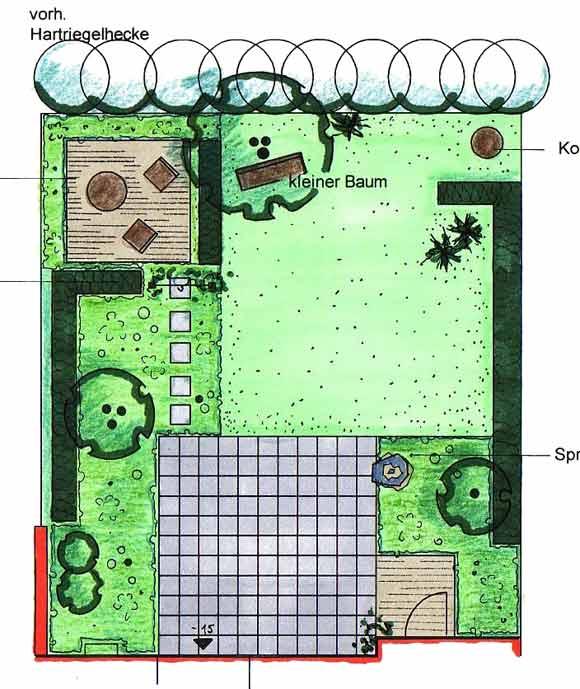 Kleiner garten for Gartenbepflanzung planen