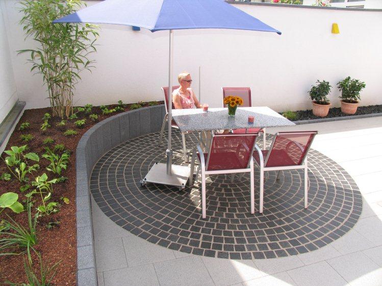 Kleiner garten mit hochbeet for Gartengestaltung 150 qm