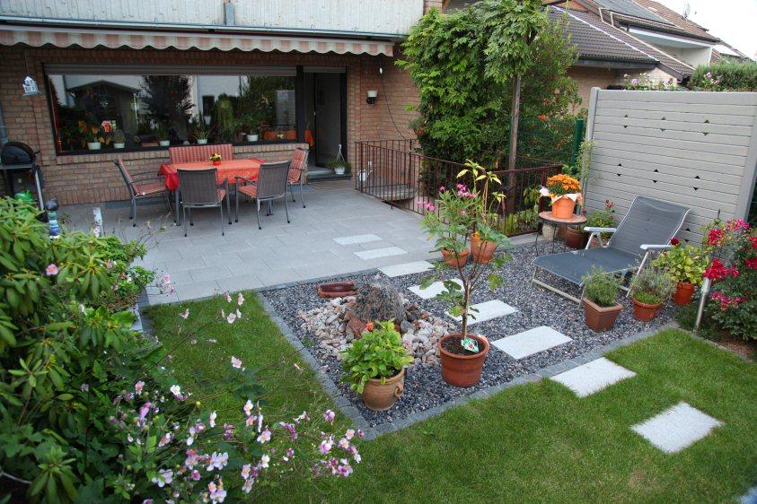 gartengestaltung reihenhaus beispiele – usblife, Terrassen ideen