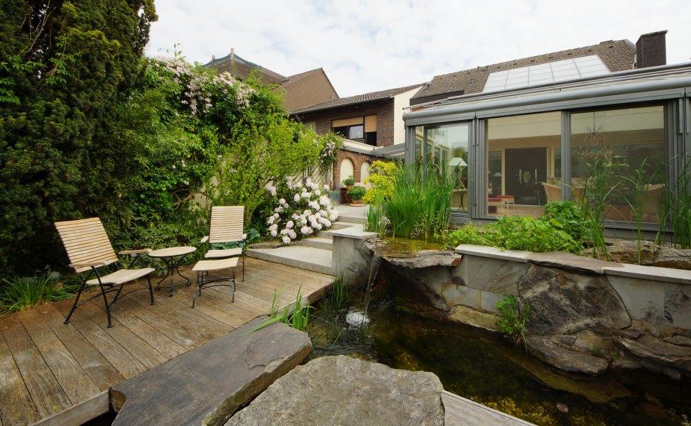 Koiteich for Gartengestaltung 500 qm