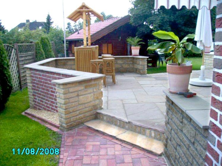 mediterrane terrasse mit mauer anlegen. Black Bedroom Furniture Sets. Home Design Ideas