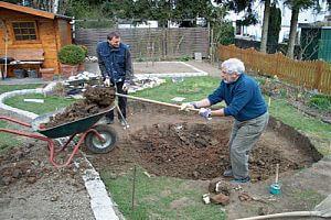 Eigenleistungen wie Aushubarbeiten verringern die Kosten