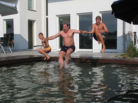 Schwimmteich Schwimmbereich