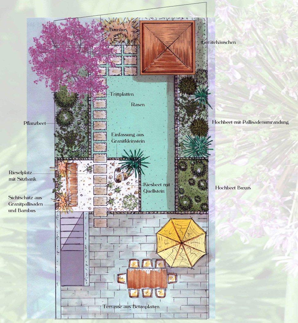 Reihenhausgarten in bergheim bei k ln for Gartengestaltung 150 qm