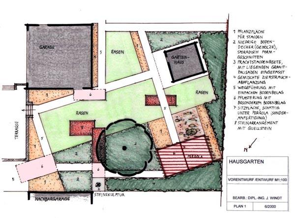 Garten mit individuell konstruierter pergola for Gartengestaltung 150 qm