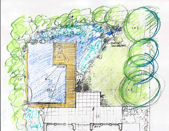 Badeteich wird naturnah gebaut for Naturteich zum schwimmen