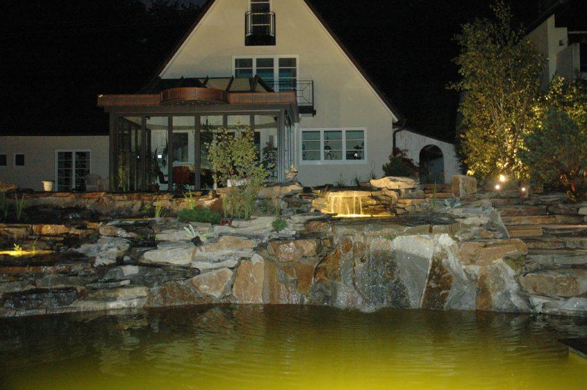 Schwimmteich Beleuchtung | Beleuchtung Im Schwimmteich