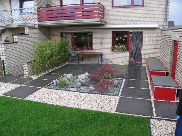 Japangarten mit modernen elementen for Gartengestaltung 150 qm
