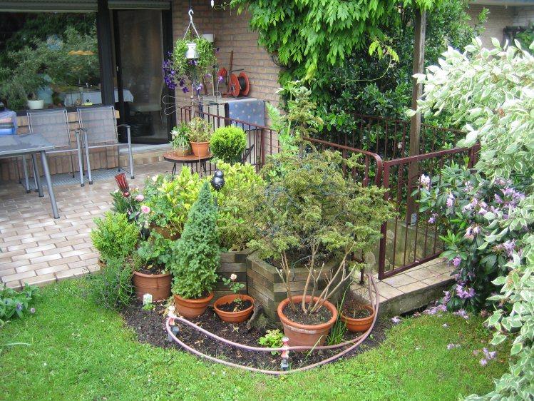 reihenhausgarten in bergheim bei köln – gartenplanung düsseldorf, Hause und Garten