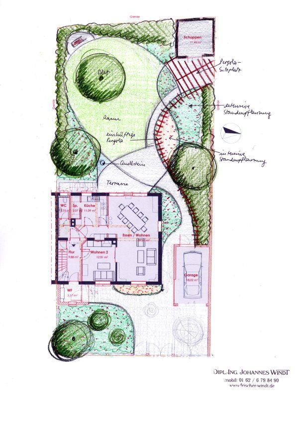 Gartenberatung mit entwurf direkt vor ort ist der 1 schritt - Garten zeichnung ...