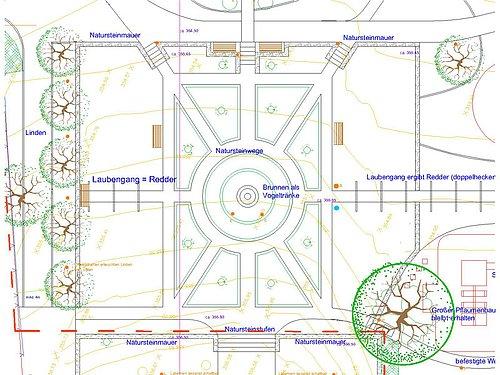 Plan Klassischer Garten