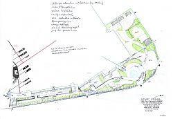 Entwurf Ausstellungsfläche Gartenbereich