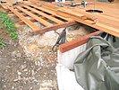Holzterrasse Bangkirai im Bau