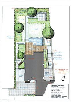 Entwurf Garten mit Wasserbecken
