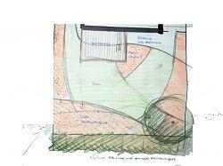 Skizze hinterer Gartenbereich