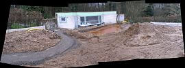 Rohbau Poolhaus