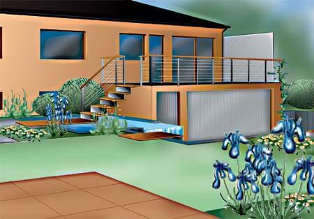 Granit-Garten 3D Visualisierung