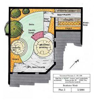 Atriumgarten Planung
