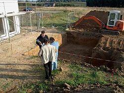 Badeteich bauen: Aushubarbeiten