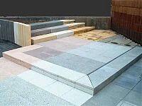 Terrassenplatten und Blockstufen