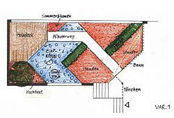 Entwurf Bangkirai Terrasse Variante 1