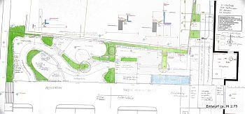 Entwurf Mustergarten für Baustoffe Planung