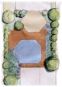 2. Entwurf für den Badeteich