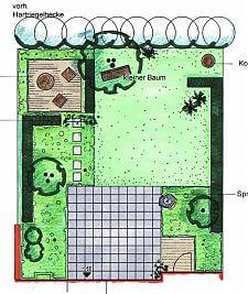 Garten planen: Vorentwurf 1 orthogonal
