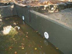 Strahler wurden in den Schwimmteich integriert