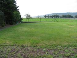 diese riesige Rasenfläche wird in den Landschaftsgarten mit einbezogen