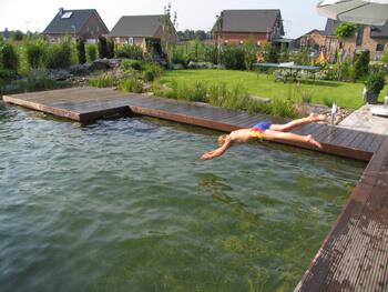 Sprung in das Wasser