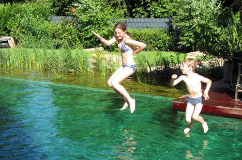 Badeteich weitgehend ohne Algen