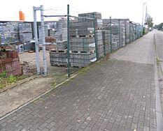 Lagerplatz für Pflastersteine