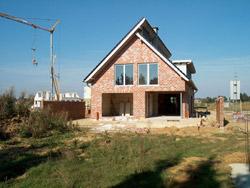 Baustelle, hier soll der Familiengarten entstehen