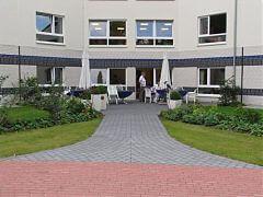 Gemeinschaftsaußenbereich im Seniorenpark