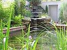 Natursteinwasserfall im Stadtgarten