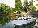 Modellboot im Wasser