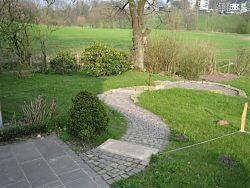 Gartenbereich hinten links vor der Umgestaltung