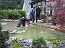 Unterwasser-Pflanzarbeiten