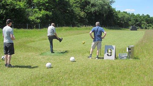 Abschlag Fußballgolf