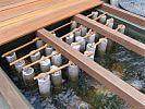 Filterkammer mit übergezogenen Filterstrümpfen