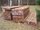 Holz für den Steg