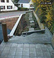 Baustellle Gehweg zum Haus