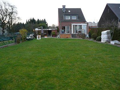 Garten Einfamilienhaus vor der Umgestaltung