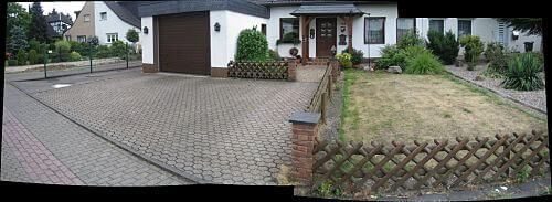 Doppelhausvorgarten vorher