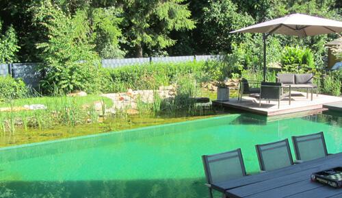 Zaun Einfriedung Schwimmteich